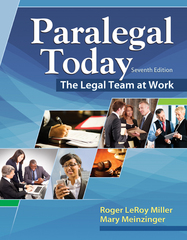 Paralegal Today 7th Edition 9781305506084 1305506081