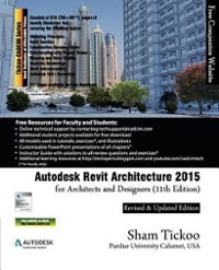 Autodesk Revit Architecture 2015 for Architects and Designers 11th Edition 9781936646715 1936646714
