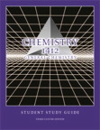 Chemistry 1312, General Chemistry, Student Study Guide, Volume II 3rd Edition 9781269979597 1269979590