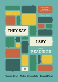 """They Say / I Say"" 3rd Edition 9780393937510 0393937518"