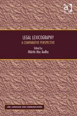 Legal Lexicography 1st Edition 9781317106180 1317106180