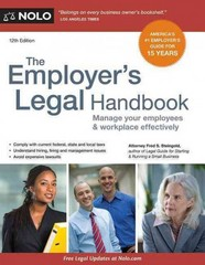 The Employer's Legal Handbook 12th Edition 9781413321463 1413321461