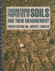 Engineering Properties of Soils and Their Measurement 4th Edition 9780070067783 0070067783