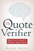 The Quote Verifier 1st edition 9780312340049 0312340044