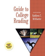 Guide to College Reading 6th edition 9780321088628 032108862X