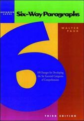 Six-Way Paragraphs: Advanced Level 3rd Edition 9780844221236 0844221236