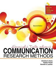 Straight Talk about Communication Research Methods 2nd Edition 9781465248145 1465248145