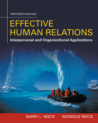 Effective Human Relations 13th Edition 9781305576162 1305576160