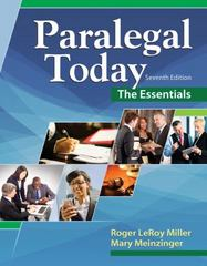 Paralegal Today 7th Edition 9781305508743 1305508742