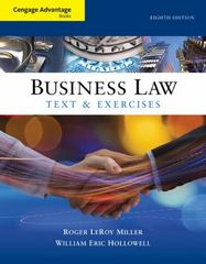 Cengage Advantage Books: Business Law 8th Edition 9781305856479 1305856473