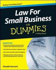 Law for Small Business For Dummies - UK 1st Edition 9781118970461 1118970462