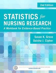 Statistics for Nursing Research 2nd Edition 9780323358811 0323358810