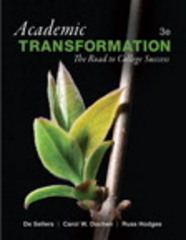 Academic Transformation 3rd Edition 9780133948226 0133948226