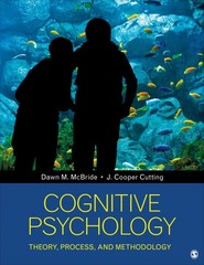 Cognitive Psychology 1st Edition 9781483313344 1483313344