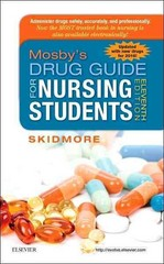 Mosby's Drug Guide for Nursing Students, with 2016 Update 11th Edition 9780323172974 0323172970