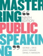 Mastering Public Speaking 9th Edition 9780133753837 0133753832