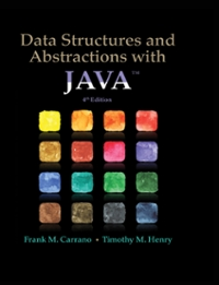 Data Structures and Abstractions with Java 4th Edition 9780133750362 0133750361