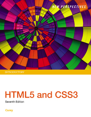 New Perspectives HTML5 and CSS3 7th Edition 9781305856028 1305856023