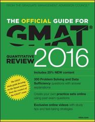 The Official Guide for GMAT Quantitative Review 2016 with Online Question Bank and Exclusive Video 4th Edition 9781119042617 1119042615