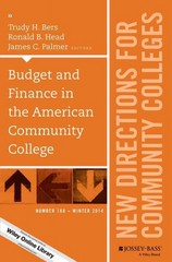 Budget and Finance in the American Community College 1st Edition 9781119041566 1119041562