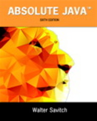 Absolute Java 6th Edition 9780134041674 0134041674