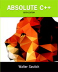 Absolute C++ 6th Edition 9780133970784 0133970787