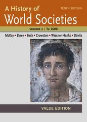 A History of World Societies, Value Edition, Volume I: To 1600 10th Edition 9781457696428 1457696428