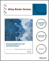 Economics of Strategy 7th Edition 9781119174783 1119174783
