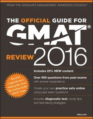 The Official Guide for GMAT Review 2016 with Online Question Bank and Exclusive Video 15th Edition 9781119042501 111904250X