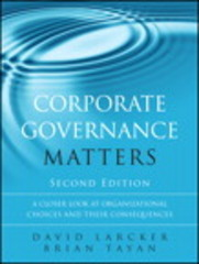 Corporate Governance Matters 2nd Edition 9780134031576 0134031571