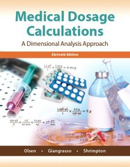 Medical Dosage Calculations 11th Edition 9780133940718 0133940713