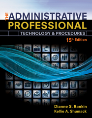 The Administrative Professional 15th Edition 9781305856738 1305856732