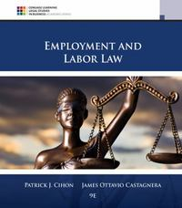 Employment and Labor Law 9th Edition 9781305580015 130558001X