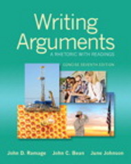 Writing Arguments 7th Edition 9780133970210 0133970213