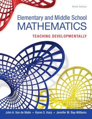 Elementary and Middle School Mathematics 9th Edition 9780133769647 013376964X