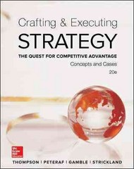 Crafting & Executing Strategy 20th Edition 9780077720599 0077720598