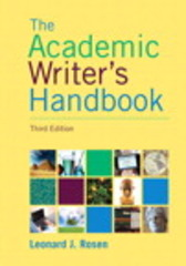 Academic Writer's Handbook, The,  Plus MyWritingLab -- Access Card Package 3rd Edition 9780133937886 0133937887