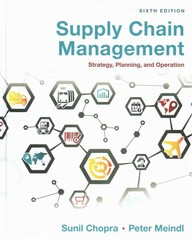Supply Chain Management 6th Edition 9780133800579 0133800571