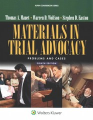 Materials in Trial Advocacy 8th Edition 9781454852032 1454852038