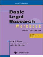 Basic Legal Research Workbook Revised 4e 4th Edition 9781454850410 1454850418
