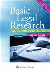 Basic Legal Research 6th Edition 9781454850403 145485040X