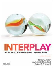 Interplay 13th Edition 9780199390489 0199390487
