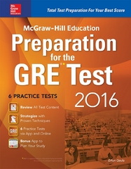 McGraw-Hill Education Preparation for the GRE Test 2016 2nd Edition 9780071843584 0071843582