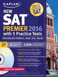 Kaplan New SAT Premier 2016 with 5 Practice Tests 1st Edition 9781625231536 1625231539