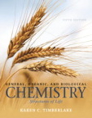 General, Organic, and Biological Chemistry 5th Edition 9780321966926 0321966929