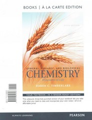 General, Organic, and Biological Chemistry 5th Edition 9780133890808 0133890805