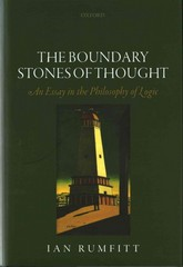 The Boundary Stones of Thought 1st Edition 9780198733638 0198733631