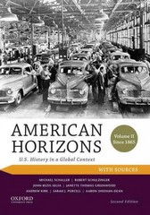 American Horizons 2nd Edition 9780199389360 0199389365