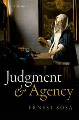 Judgment and Agency 1st Edition 9780198719694 0198719698