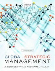 Global Strategic Management 3rd Edition 9780198706595 0198706596